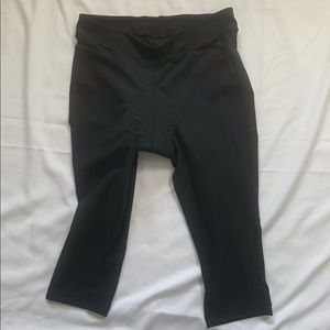 Nike Black Cropped Padded Cycling Tights Size L